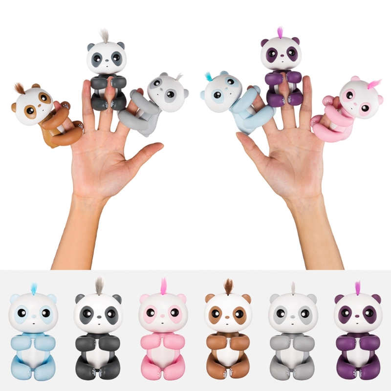 Fingertip Panda Intelligent Interactive Toys 6 Color Cute Cartoon Smart Pet Induction Toys for kids Christmas gift -B116