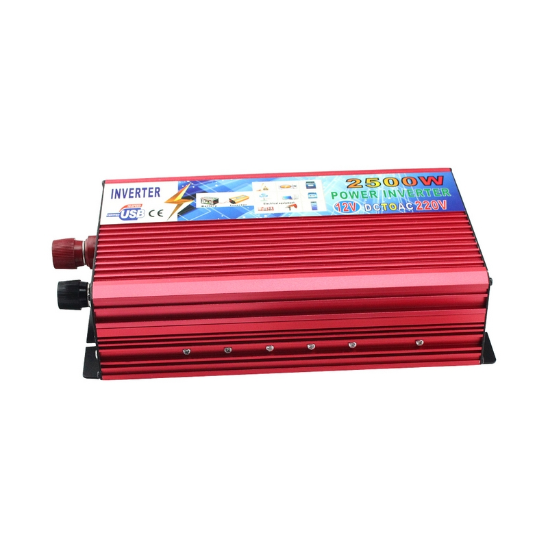 DC 12V To AC 220V 2500W Car Power Inverter Converter Portable Vehicle Power Supply Charger Adapter