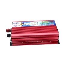 DC 12V AC 220V 2500W 자동차 전원 인버터 변환기 휴대용 차량 전원 공급 장치 충전기 어댑터