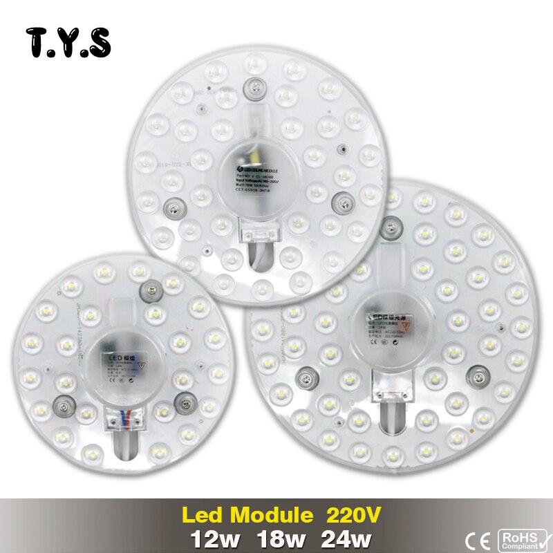 Светодиодные лампы 12 Вт 18 Вт 24 Вт SMD 2835 220 В Панель свет современный потолочный светильник светодиодный светильник драйвер под стены энергос…
