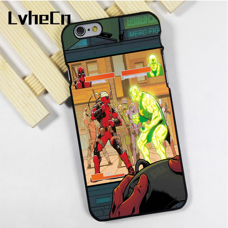 LvheCn phone case cover fit for iPhone 4 4s 5 5s 5c SE 6 6s 7 8 plus X ipod touch 4 5 6 Deadpool Radioactive Man Funny Marvel