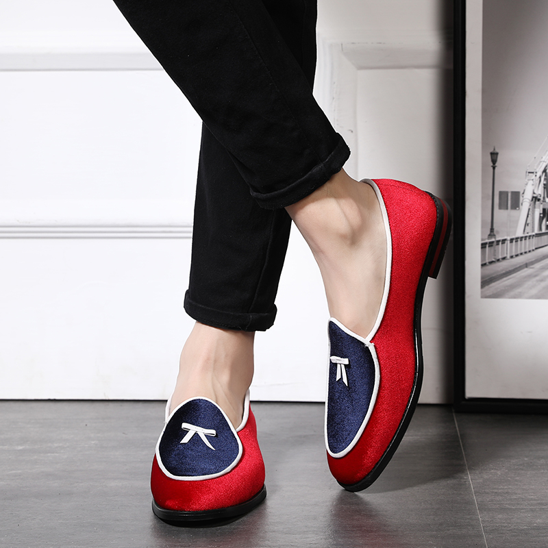 2020 Colorful Suede Loafers New Style Men's Flats Tassel Breathable Shoes Comfortable Slip-On Loafers Shoes Men Plus Size 37-48
