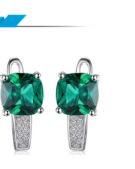 HTB1Qf0Xi8HH8KJjy0Fbq6AqlpXaZ Jpalace 3ct Simulated Nano Emerald Pendant Necklace 925 Sterling Silver Gemstones Choker Statement Necklace Women Without Chain