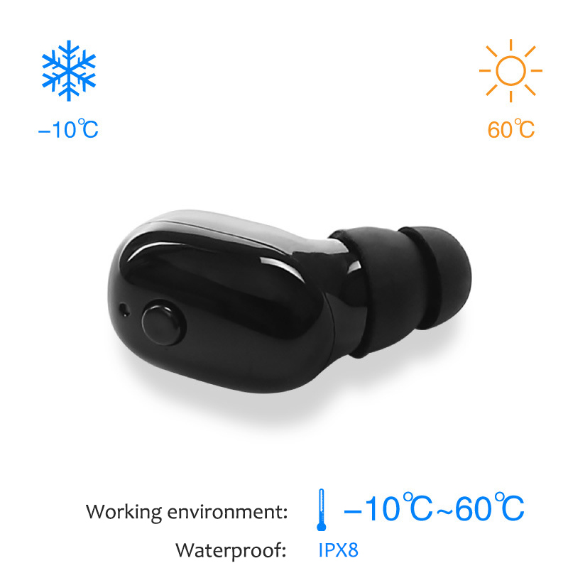 M760i Bluetooth Earphones Sport Waterproof IPX8 Wireless headphones With Mic for swimming phone