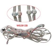 50pcs/500pcs/1000pcs Pre-soldered WS2812B LED Heatsink 5050 RGB WS2811 IC Built-in & 10cm Wire DC5V ic smd lm317 sot223 1 5a 1 2v 37v 100pcs 500pcs 1000pcs high quality