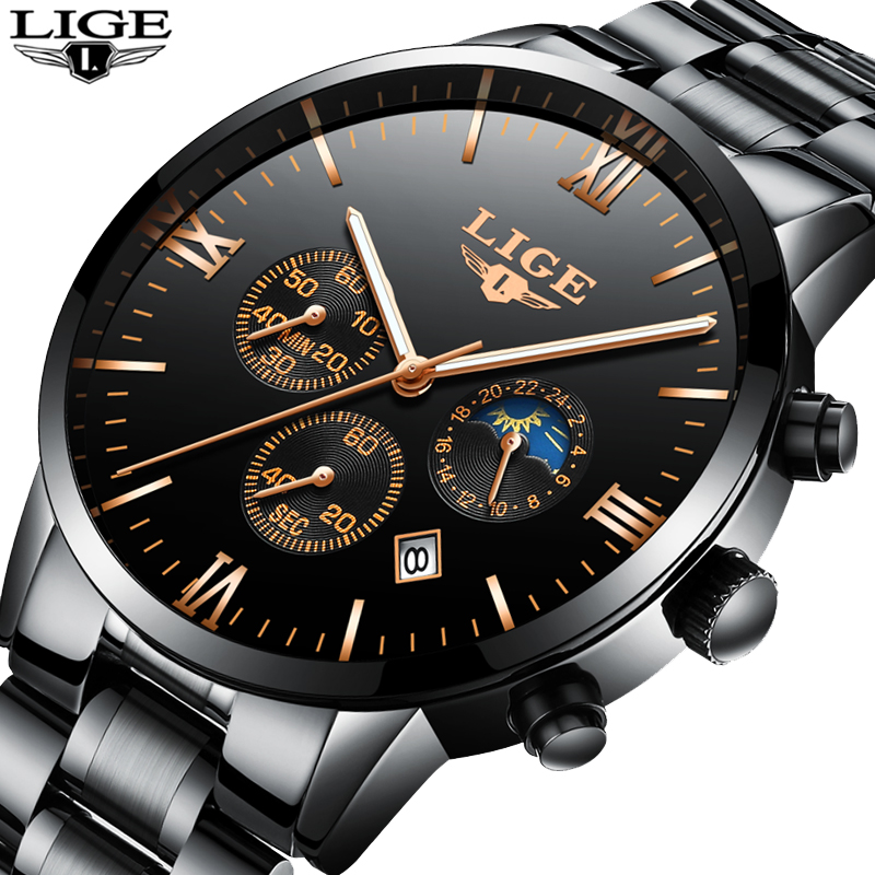 HOT 2018 LIGE Watches Men Quartz Top Brand Analog Military male Watches Men Sports Army Watch Waterproof Relogio Masculino weide brand quartz sports watches men military army black waterproof male clockmultiple time zone watch with gift box uv1503
