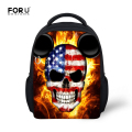 Cool Design Skull Print Schoolbag Boys Kindergarten Little Satchel Bags Lowest Price Fashion Toddler School Bags Mochila Escolar