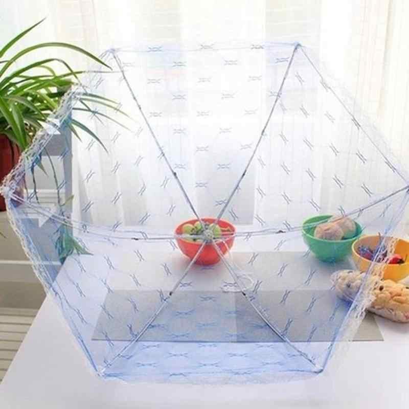 Hình lục giác Ren Nắp Đậy Thức Ăn Umbrella Phong Cách Chống Muỗi Net Lều Bữa Ăn Bảng Lưới Bìa Bảng Lưới Bao Gồm Thực Phẩm Nhà Bếp Công Cụ