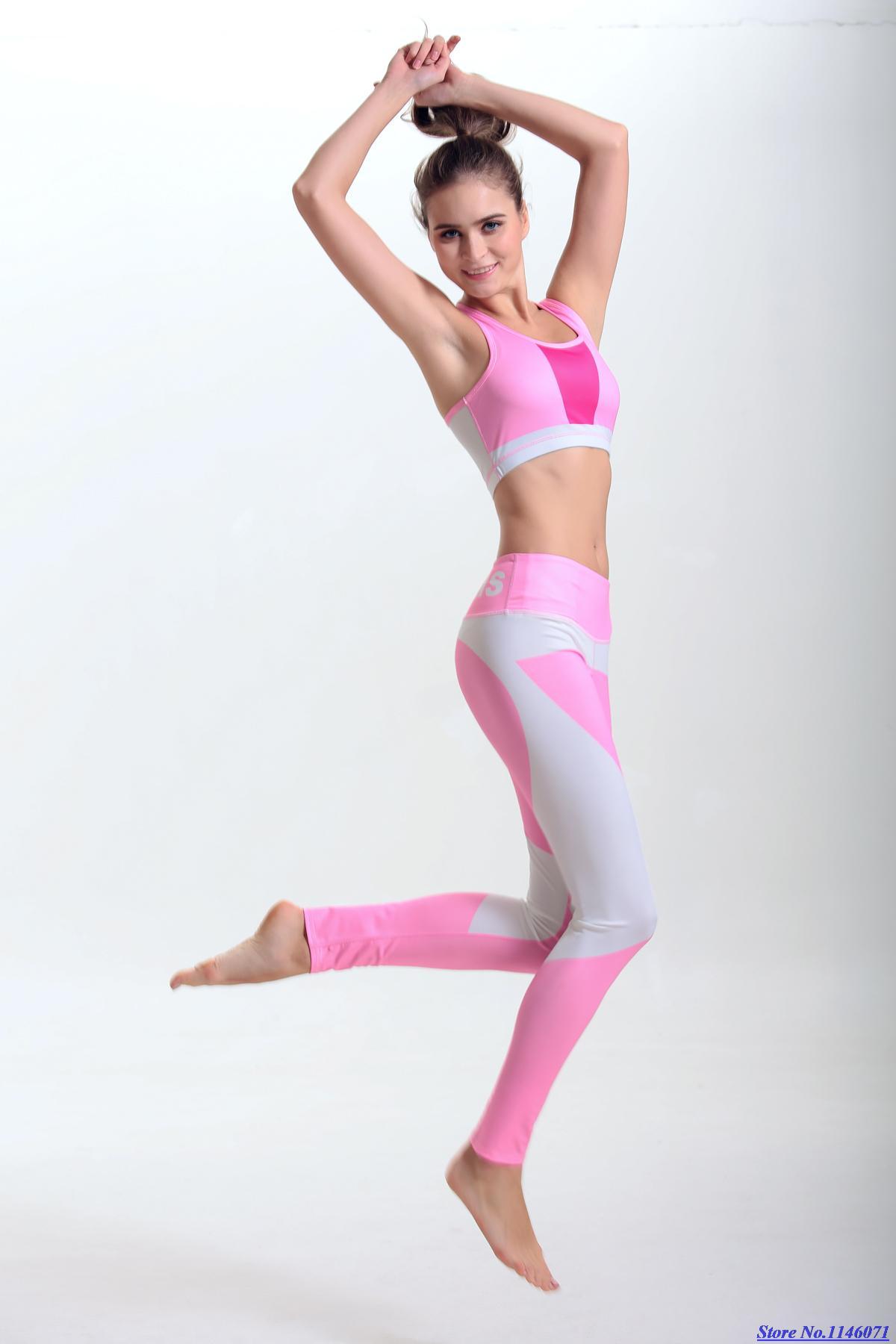 Set Sport Bra Celana Pendek Yoga Gym Abu Update Daftar Harga Pants Legging Senam Sorex Ua 510 New Pink Peach Kebugaran Pakaian Gradien Top Grade Wanita