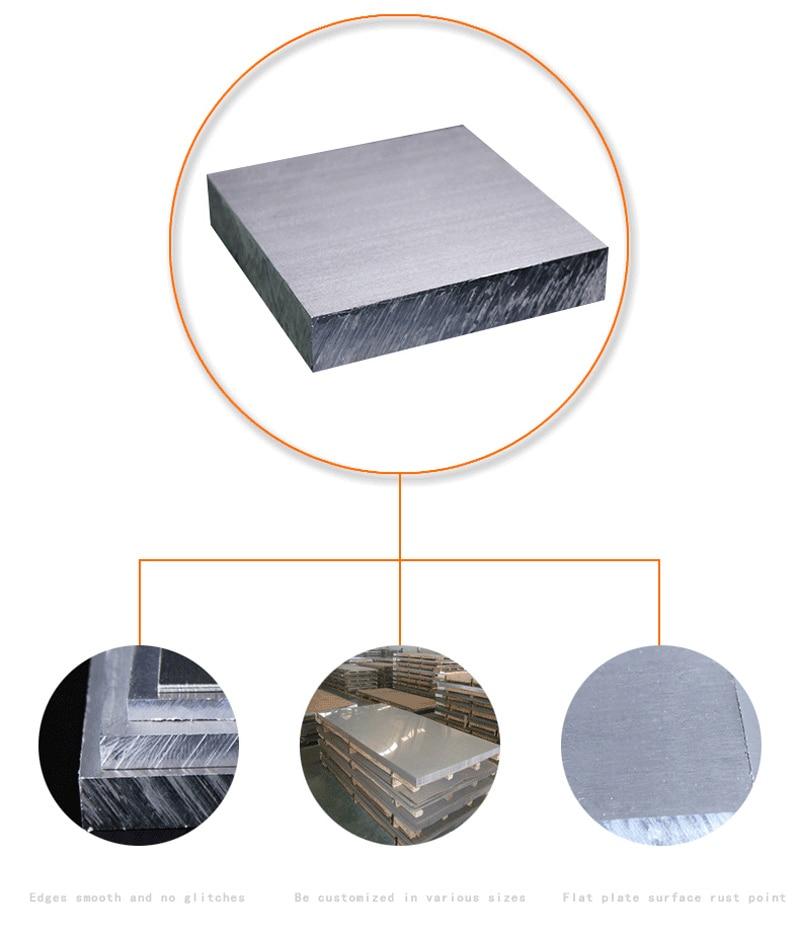 Top 6061 # Aluminium plaat 400*400*2mm (3mm, 4mm, 5mm dikte) in 6061 ZL61