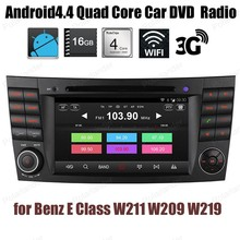 Android4.4 For Benz E Class W211 W209 W219 Quad Core Car CD DVD player Support DTV GPS BT 3G WiFi DAB+ TPMS FM AM radio