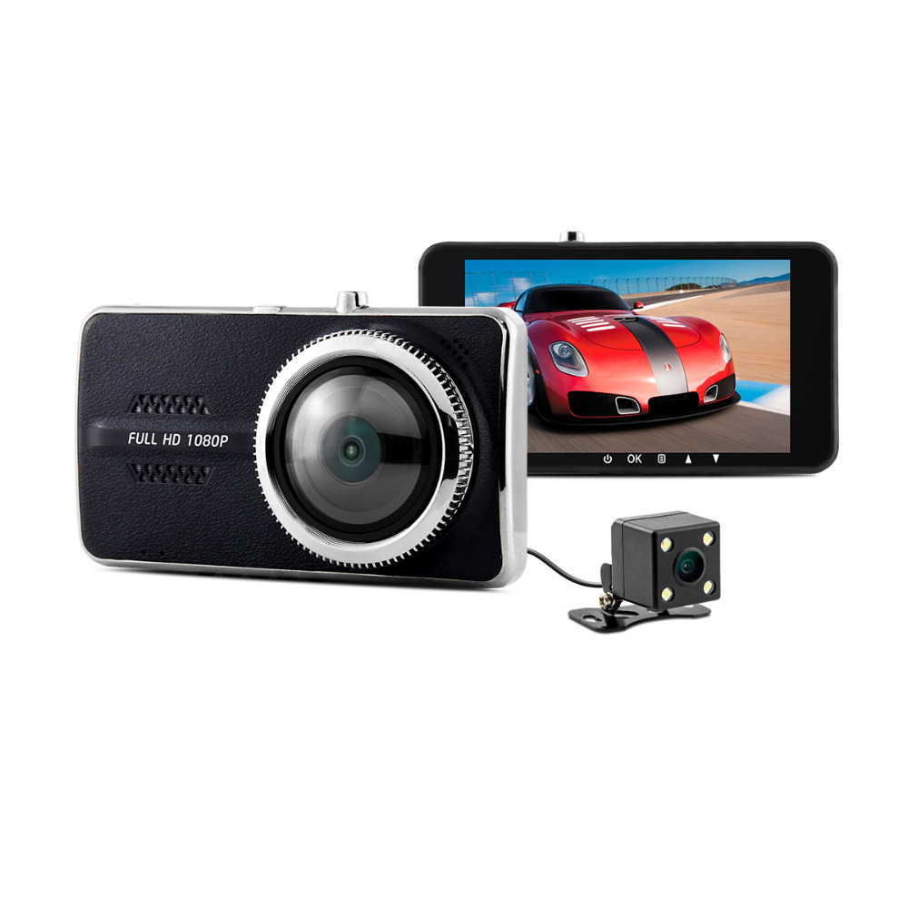 XYCING Y900 Novatek 96658 Car DVR Dual Camera 4.0 inch 1080P Full HD IPS Screen 170 Degree Wide Angle Lens G-sensor Dash Cam bigbigroad for nissan qashqai car wifi dvr driving video recorder novatek 96655 car black box g sensor dash cam night vision