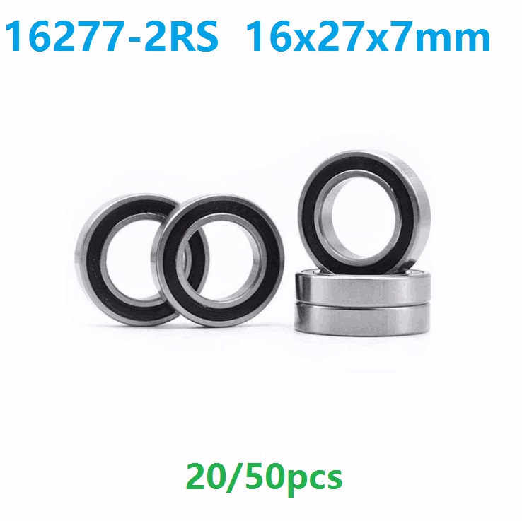 20pcs or 50pcs 16277-2RS 16277RS 16277 2RS 16x27x7 mm deep groove ball bearing bicycle bottom bracket bearing 16*27*7 abxg 23327 2rs speed connection drum bearing 23327 2rs for sram bicycle hub repair parts bearing 23x32x7 mm 23 32 7 mm