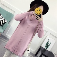 2017 Korean Fashion Autumn And Winter New Maternity Dress High Round Neck Cap Nail Beads Thick