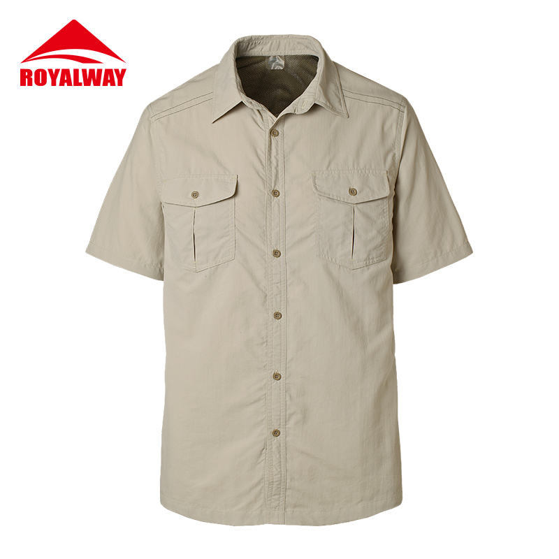 ROYALWAY Camping Hiking Shirts UV Proof Quick Dry Breathable#RIM7073BS