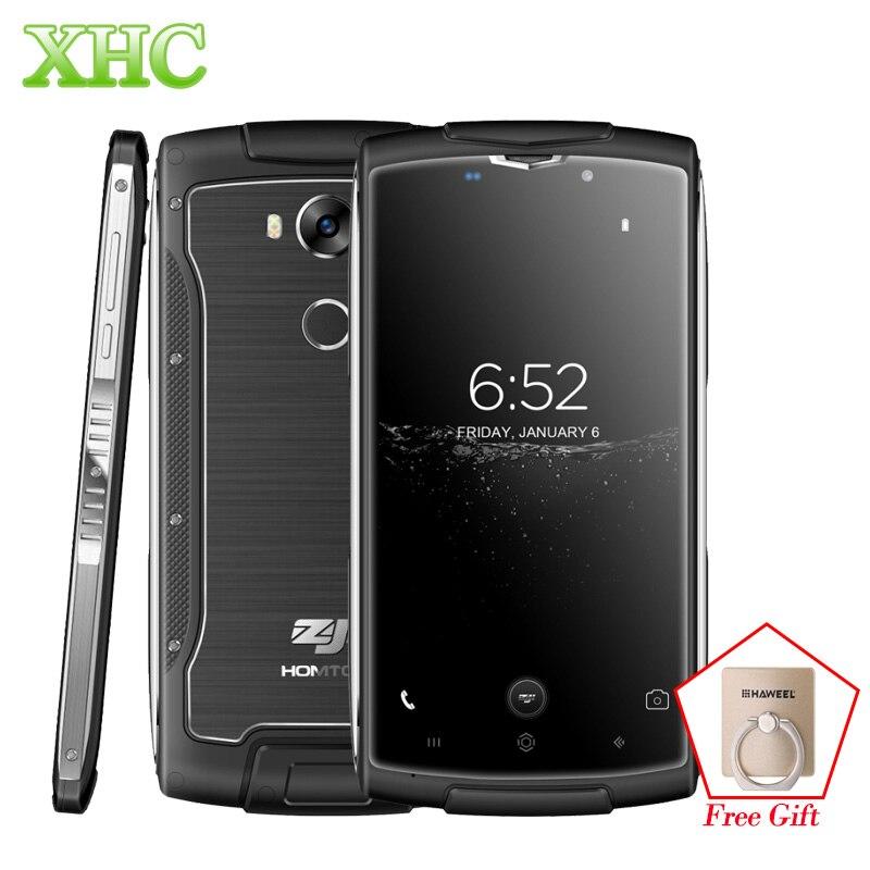 HOMTOM ZOJI Z7 IP68 Waterproof Mobile Phone Fingerprint ID Smartphone 5.0 inch Android 6.0 MTK6737 Quad Core OTA GPS Cellphone