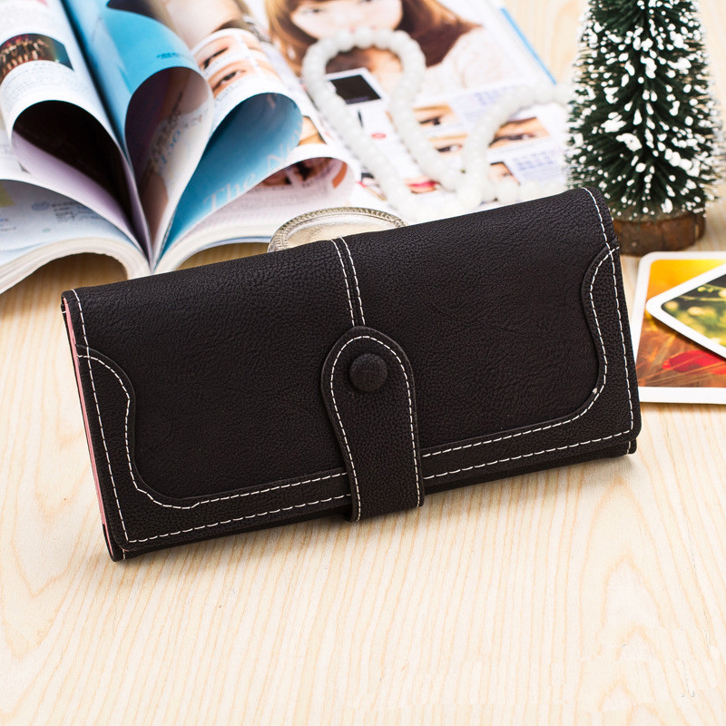 2016 Hot Sale Women Wallets Dull Polish Wallet Double Day Clutch Purse Fashion women purse with 8 colors dali 16 2 6а
