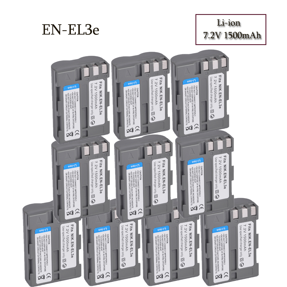 Wholesale High Quality 7.2V 1500mAh EN-EL3e D300 Camera Battery For NIKON DSLR D50, DSLR D70, DSLR D70s, DSLR D80, D90,