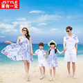 Mother Daughter Dresses Mother Son Outfits Family Matching Clothes Father Son T-shirt Shorts Mae Filha Plus Size Holiday Dresses