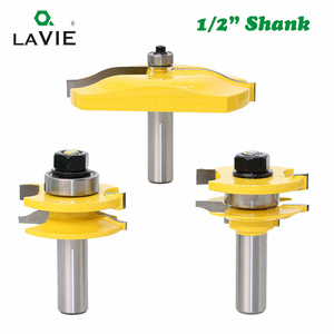 Image 2 - LAVIE 3pcs/set 12mm 1/2 Shank Door Panel Cabinet Tenon Router Bit Set Milling Cutter For Woodworking Cutters Cutting Tools 03016