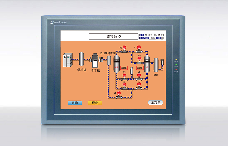 Freeship NEW Original Samkoon HMI SA-7A Touch Panel with Program Cable & Software, 7'' SA7A, 800*480, 2 COM Ports, RS232/422/485 sk 070be samkoon new original hmi 7 inch 800x480 touch panel with program cable