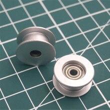 1 pcs alüminyum anodize düz avara silindir 3mm delik zamanlama kemeri için Prusa i3 MK3/MK2 X/Y eksen 623 h taşıyan konut DIY pa...