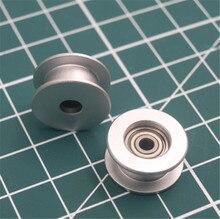 Rodillo de rodillo plano anodizado de aluminio, 1 Uds., correa dentada de 3mm para Prusa i3 MK3/MK2 X/Y eje 623h, piezas de bricolaje para rodamiento