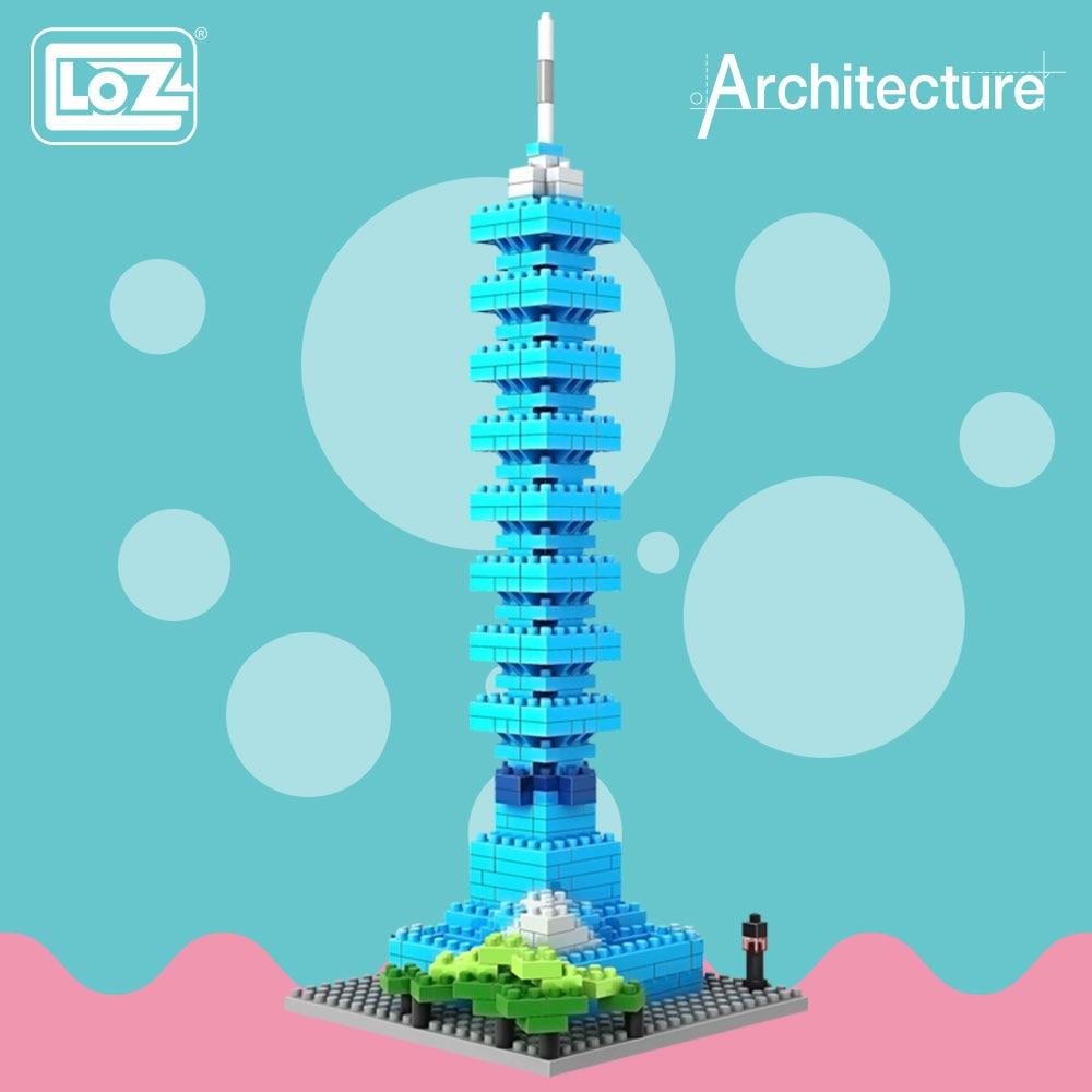 LOZ ideas Diamond Block Taipei 101 Tower Taiwan Famous Buildings Architecture Blocks Building Birck Model Toy DIY ABS Gift 9365