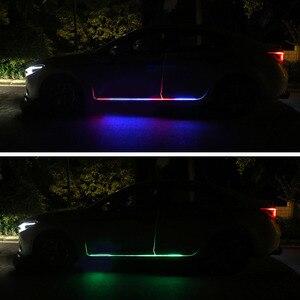 Image 5 - Автомобильный светодиодный светильник 12 В, освещение для двери, универсальная гибкая Водонепроницаемая полоса, освесветильник для двери автомобиля, приветственная лампа, аксессуары для дистанционного управления