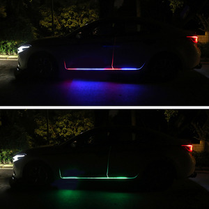 Image 5 - Car LED 12V Lights Door Light Universal Flexible Strip Waterproof Light Automobiles Door Welcome Lamp Remote control Accessories