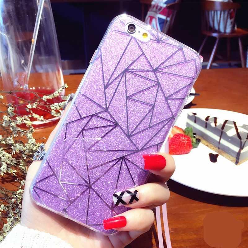 Чехол для телефона для iPhone 6 6S чехол силиконовый Блестящий со стразами и пайетками мягкий пластиковый чехол Fundas для iPhone 5 5S SE 7 8 Plus X XS