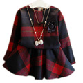 Children Clothing Sets 2017 New Spring Autumn Plaid Long Sleeve Baby Girl Clothes Sets England Style Girls Sets Top And Skirt
