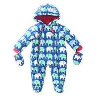 Winter Christmas Suit Kids Warm Jumpsuit Children Cotton Baby Rompers Siamese Newborn Baby Romper Climbing Clothing