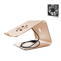 11 To 17 Inch Notebook Stand With USB Cooling Fan Aluminum Alloy Laptop Holder Cable Hollow