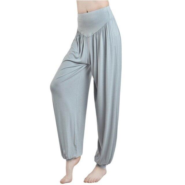 aa354b8dd4 Nuevas mujeres Casual Harem pantalones alta cintura Pantalones mujer moda  Pantalones flojos pierna ancha Bloomers pantalones