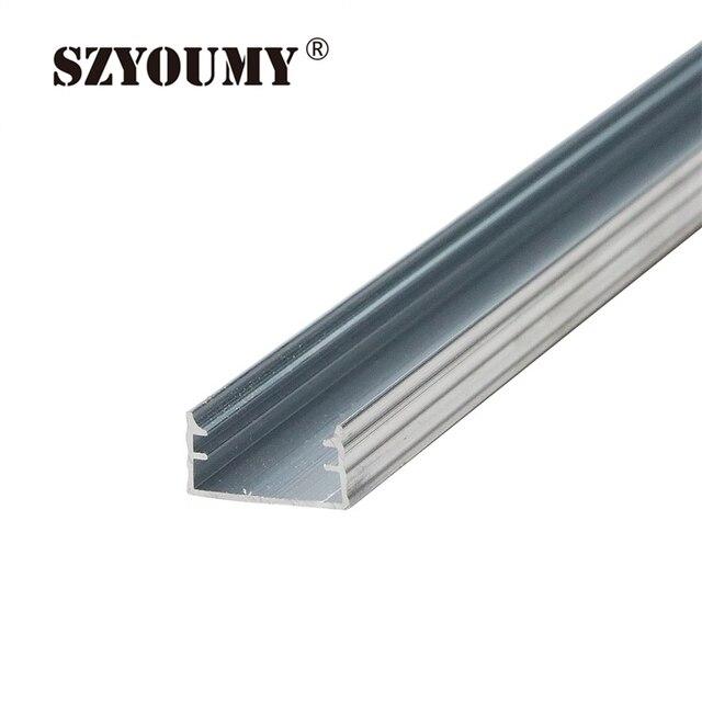 Szyoumy 50pcs fixture u channel slot light bar aluminum profile szyoumy 50pcs fixture u channel slot light bar aluminum profile silver color for rigid led light aloadofball Gallery