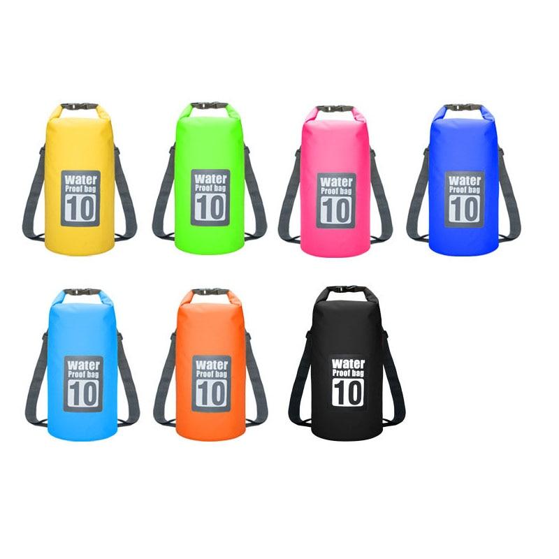 Waterproof Swimming Backpack Bag 5L 10L 15L 20L Portable Ultralight Waterproof Floating Bag Outdoor Camping Storage Dry Sack Bag 5