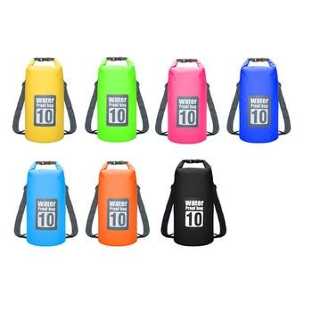 Waterproof Swimming Backpack Bag 5L 10L 15L 20L Portable Ultralight Waterproof Floating Bag Outdoor Camping Storage Dry Sack Bag 10