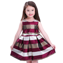 Sleeveless Striped Princess Dress