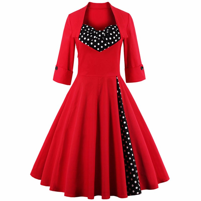 Vintage rockabilly retro casual dress 1