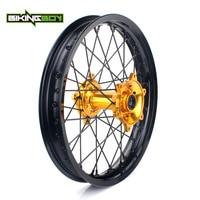 BIKINGBOY 19 MX Offroad Complete Rear Wheel Rim Hub Set 36 Holes for Suzuki RMZ450 RMZ 450 2005 2006 2007 2016 RMZ 250 07 16