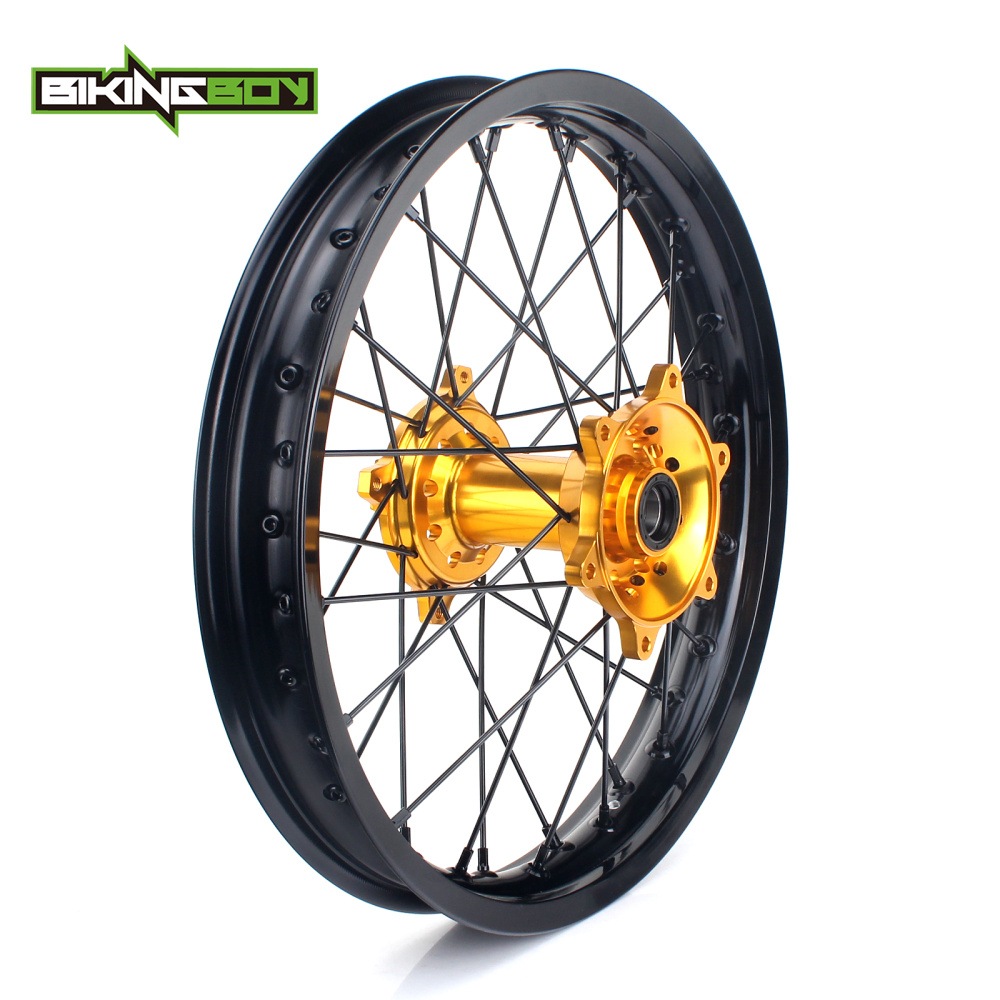 BIKINGBOY 19 MX Offroad Complete Rear Wheel Rim Hub Set 36 Holes for Suzuki RMZ450 RMZ 450 2005 2006 2007 2016 RMZ 250 07 16