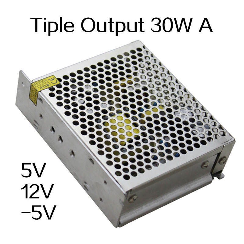 30W Triple output 5V 12V -5V Switching power supply smps AC to DC meanwell 5v 130w ul certificated nes series switching power supply 85 264v ac to 5v dc