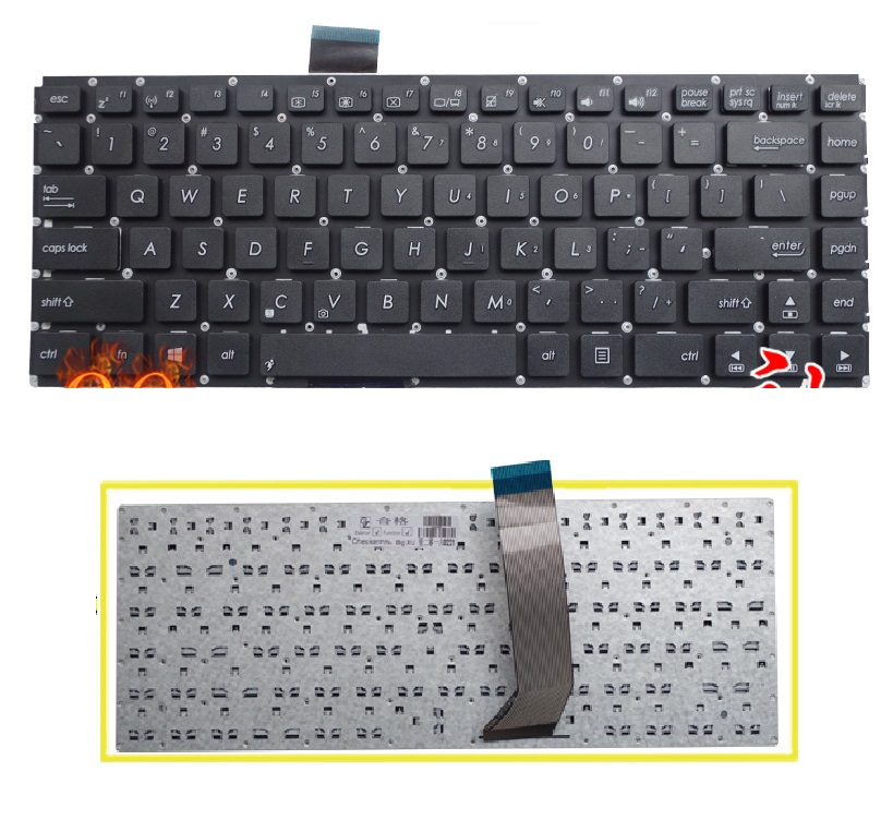 SSEA New US Keyboard For ASUS VivoBook S400 S400C S400CA S400E Keyboard without frame Free Shipping кабель для сабвуфера atlas element integra subwoofer 1 2 10 m