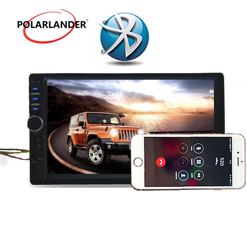7''inch 2 DIN HD Touch Screen Universal In Dash Car Radio Stereo for rear camera MP5 MP4 Bluetooth Auto Hands-free TF/USB/AUX