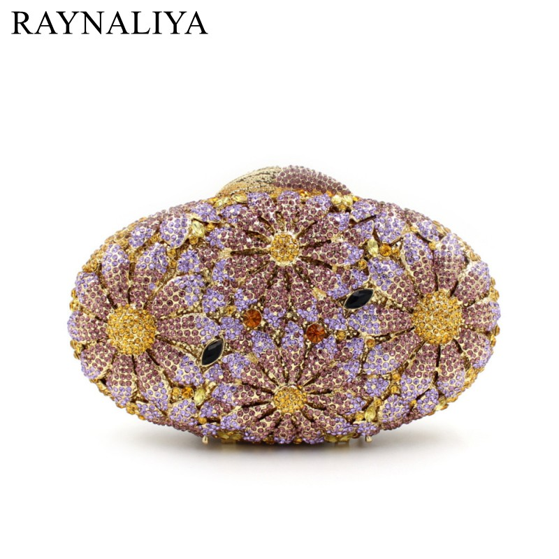 Women Luxury Crystal Clutch Bag Pink Flower Clutches Ladies Evening Bags Wedding Purse Designer Handbags SMYZH-F0339 luxury crystal clutch handbag women evening bag wedding party purses banquet