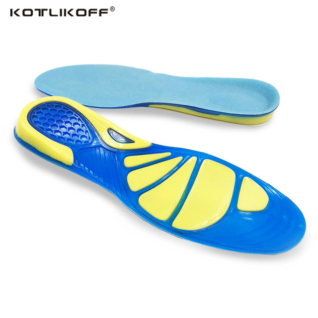 1f27d06d3c KOTLIKOFF Silicon Gel Insoles Foot Care for Plantar Fasciitis Heel Spur  Running Sport Insoles Shock Absorption