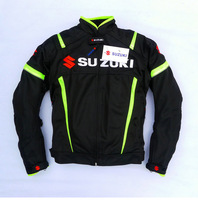 Summer Mesh Motorcycle Jackets Moto Racing Windproof Jackets fit for SUZUKI Motor With 5pcs Protectors Men Motorbike Jacket
