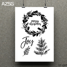Christmas wreath Clear Stamps/seal for DIY Scrapbooking/Card Making/Photo Album Decoration Supplies warm fireplace clear stamps seal for diy scrapbooking card making photo album decoration supplies