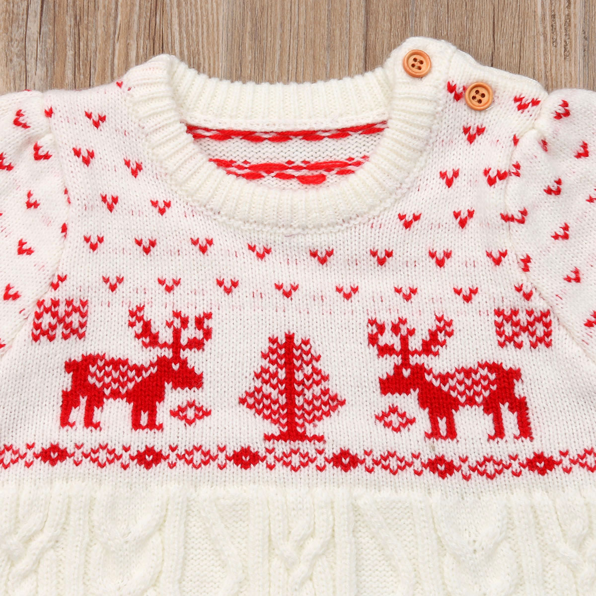 Né Noël Tricoter Pull Partie Nouveau Robe Vêtements Tutu Bébé Laine À Filles Enfants Ok80Pwn